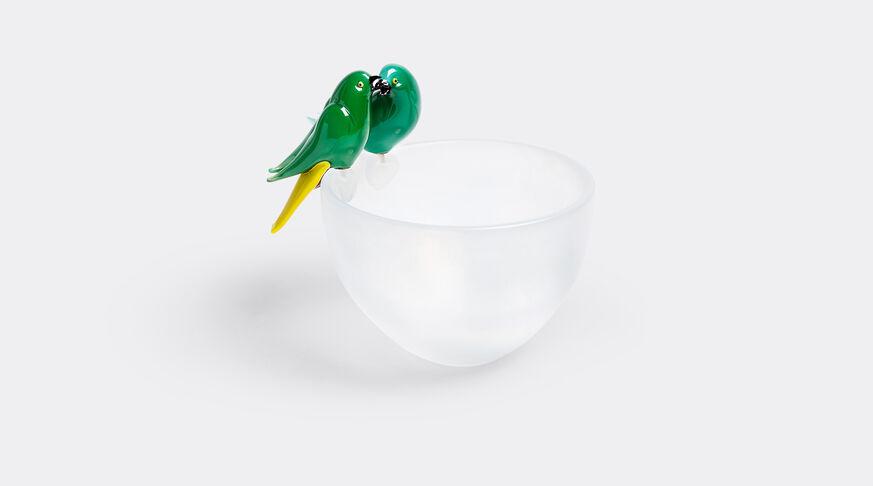 C2Iridescent Glass Bowl With One Bird