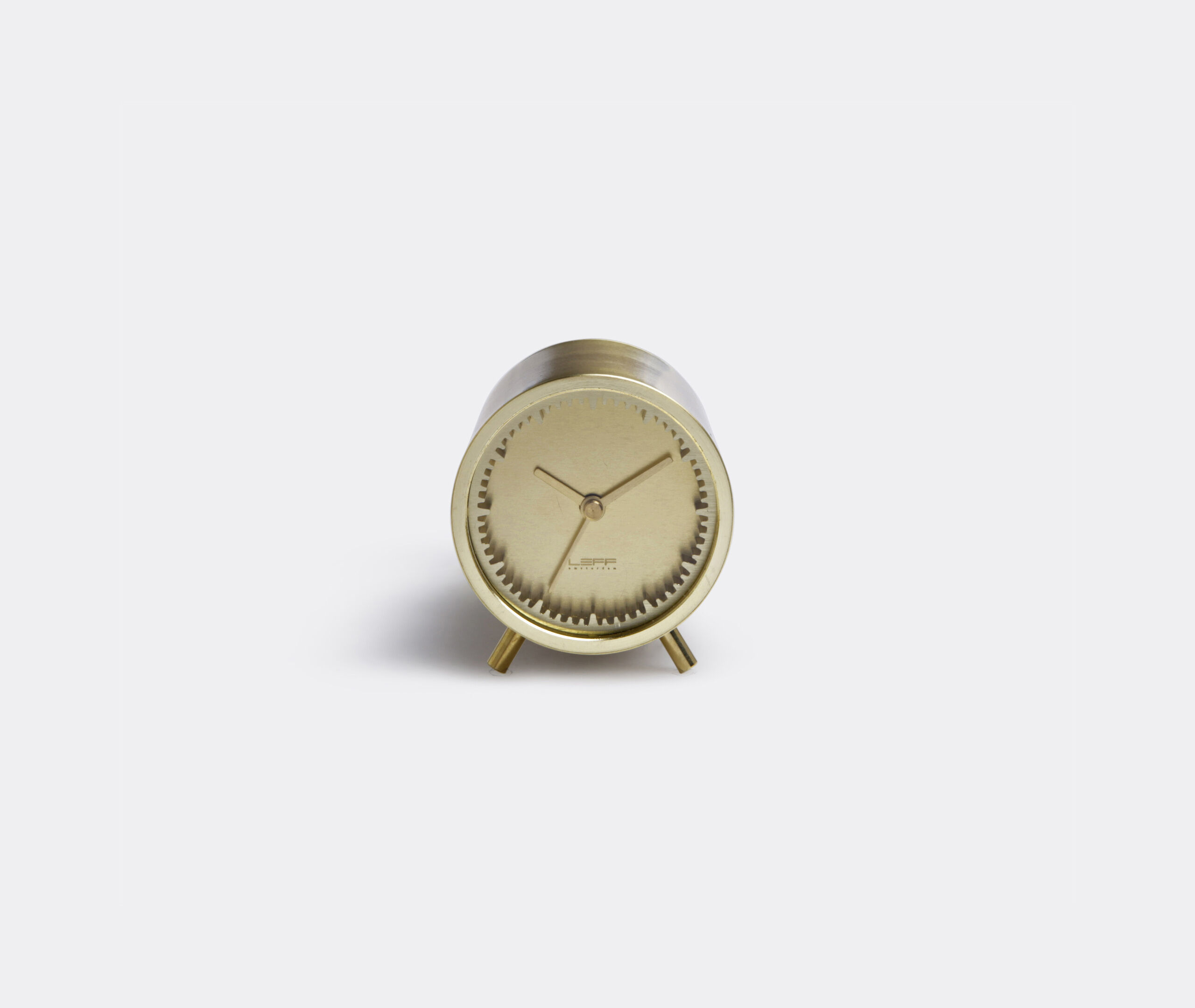 Tube Clock Brass