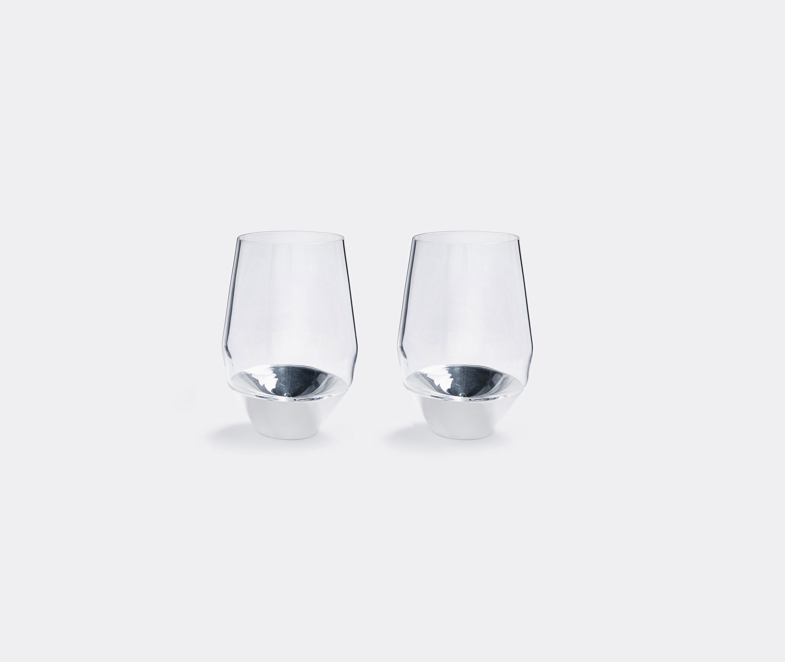 Set Of Two Red Wine Glasses