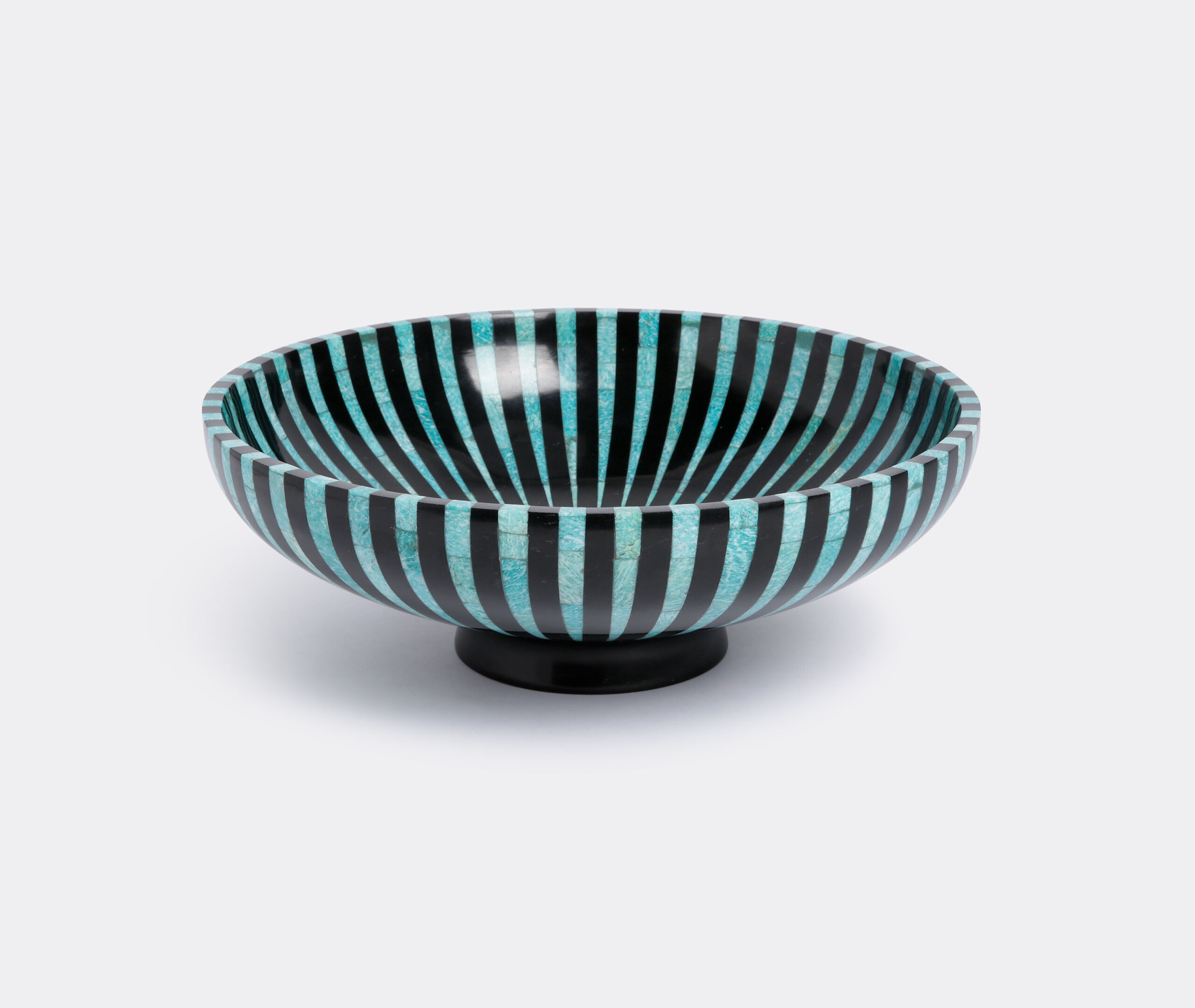 Amazonite And Black Marble Stripe Bowl