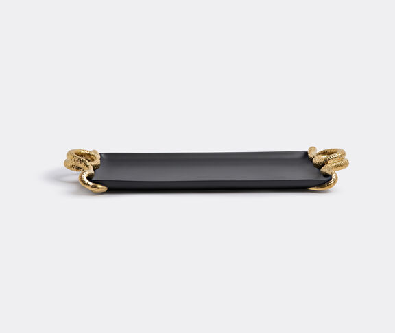 'Snake' medium gold rectangular tray