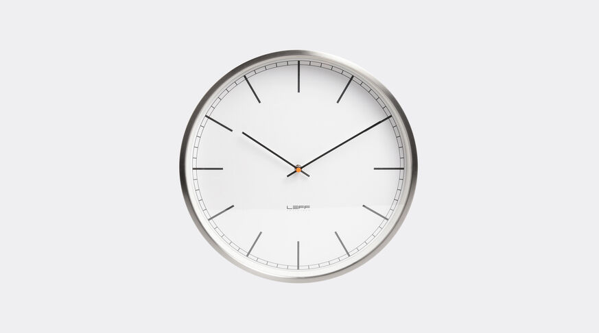 One 35 Wall Clock Stainless Steel White Index