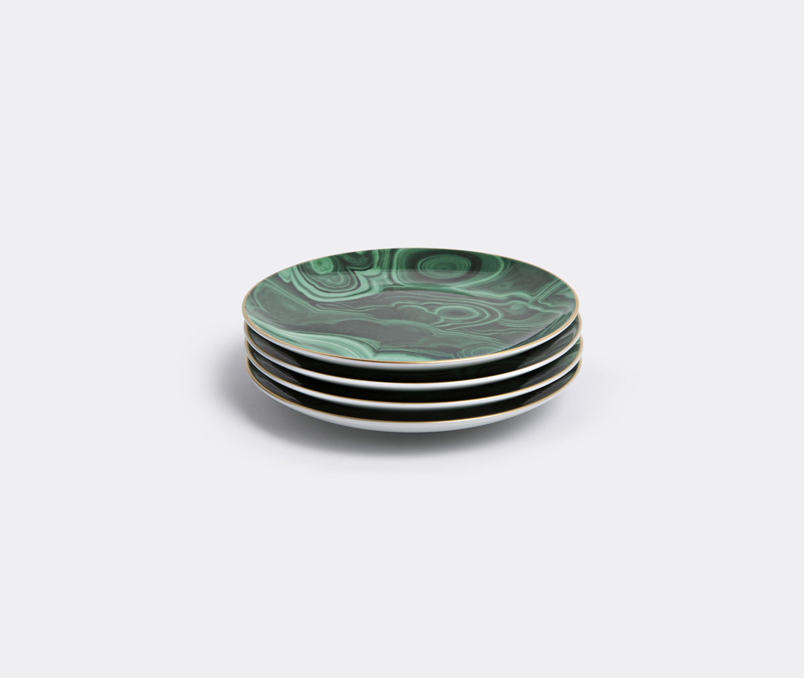 Malachite Canape Plate (Set Of 4)