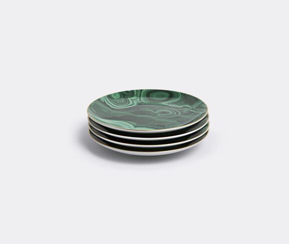 'Malachite' canapé plate, set of four