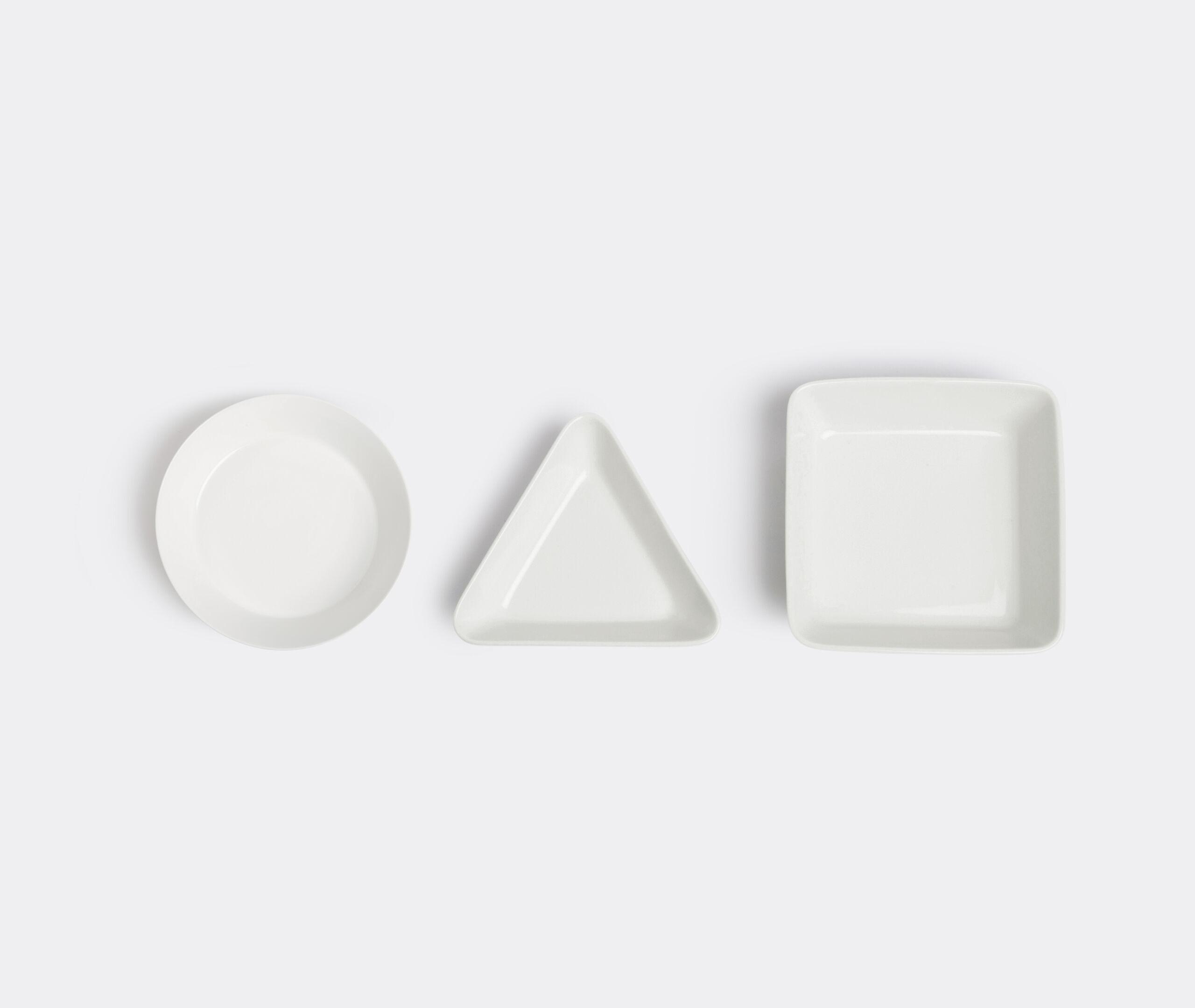 Teema Mini Serving SetPiattino Tondo, Quadrato E Triangolare