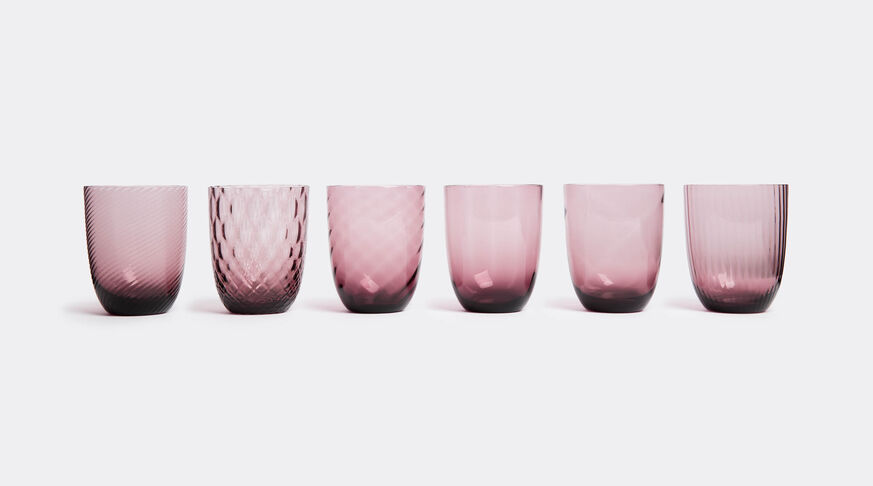Water Glass, Violet, Set Of Six 6