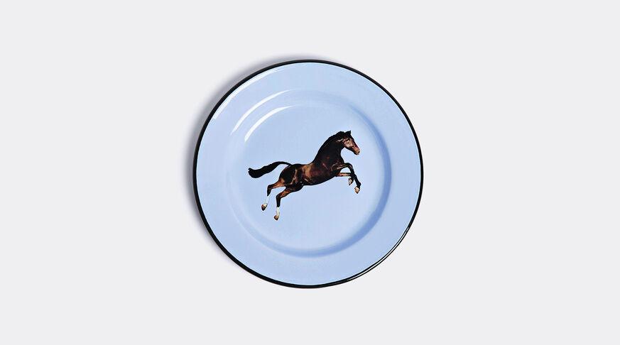 Toiletpaper Plate Metal Enameled Ø Cm.26 - Horse