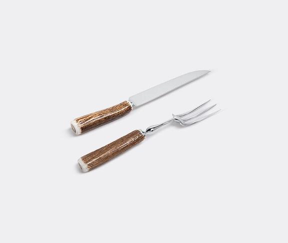 Stag antler carving set