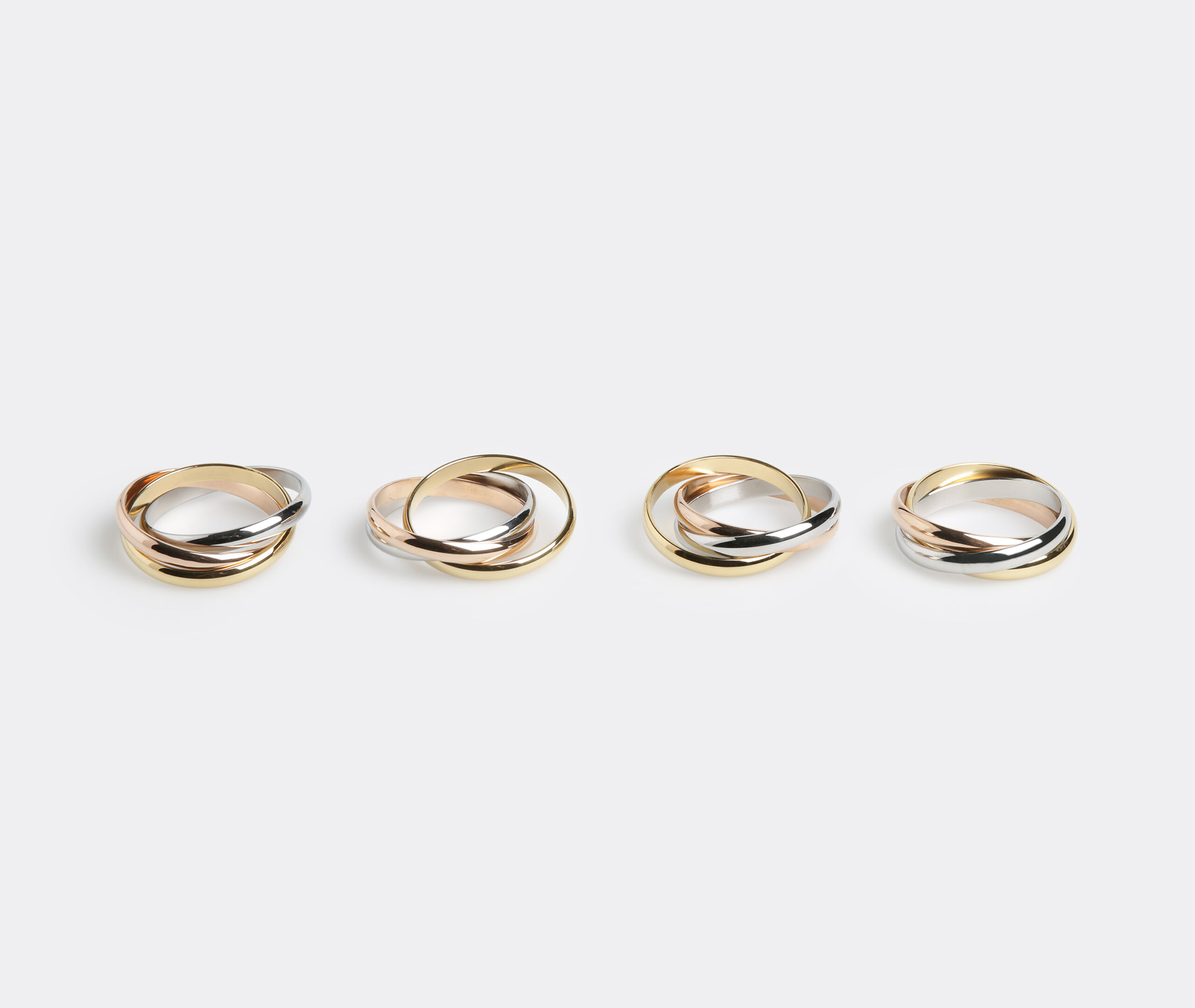 Three Rings Tri-Color - Set Of 4