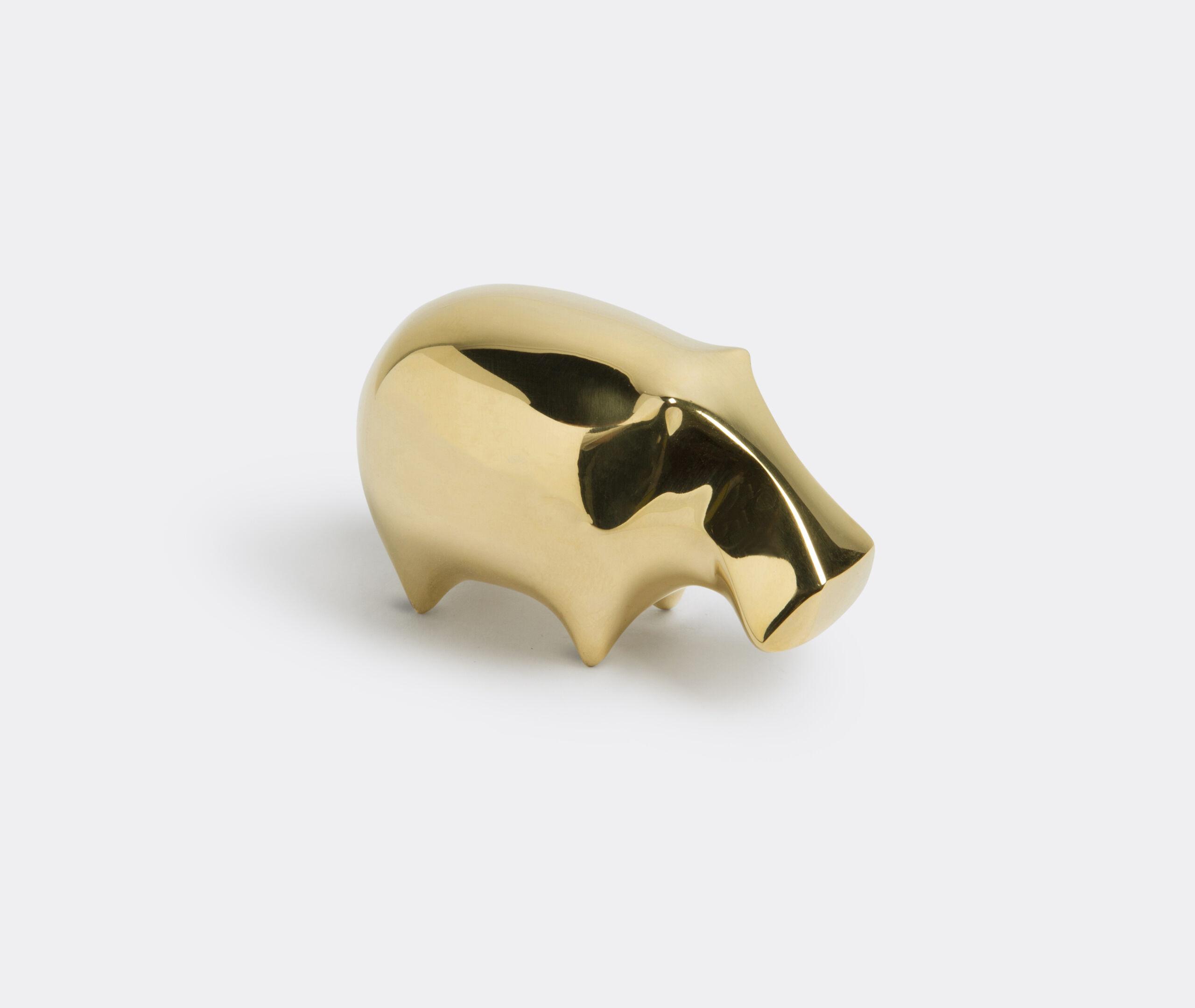 Brass Block Hippopotamus