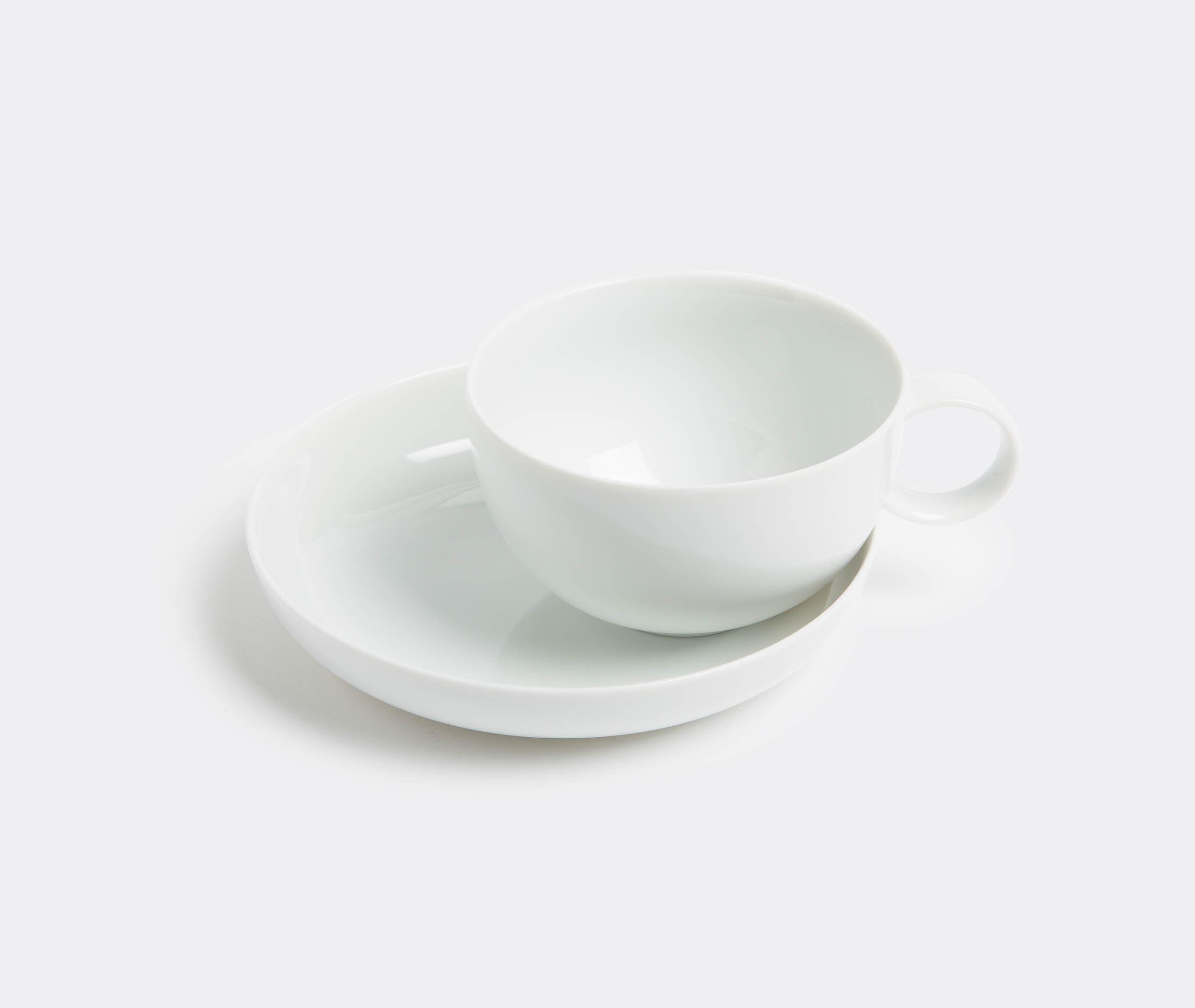 Aldo Bakker Cappucino Cup W. Saucer, White