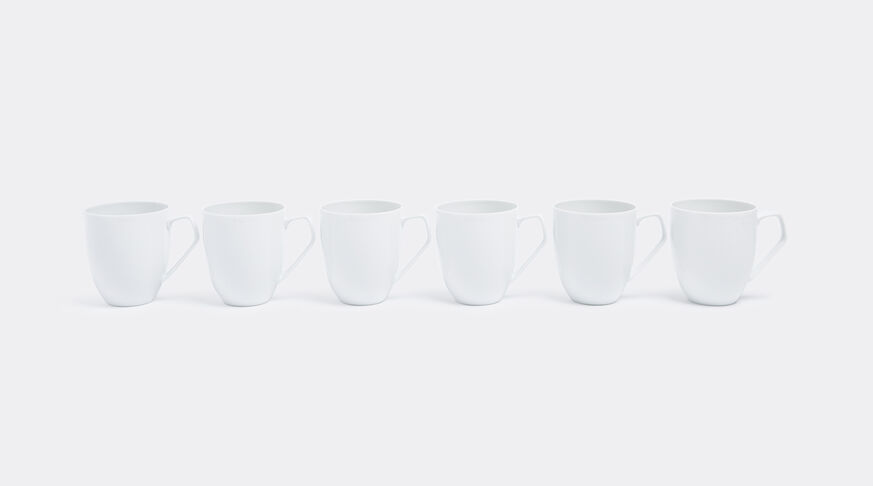 Mug With Handle, Tac Gropius Weiss, Set Of Six