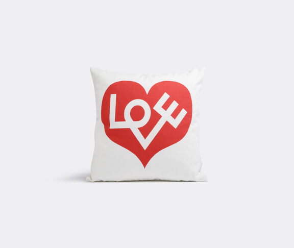'Love' graphic print pillow