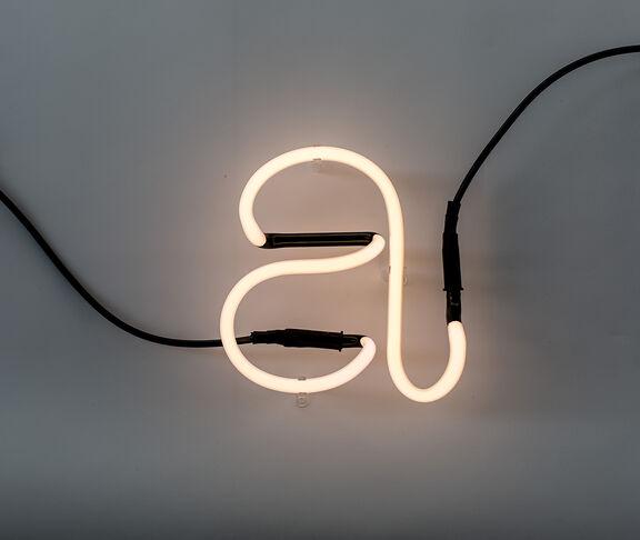 Neon font 'A'