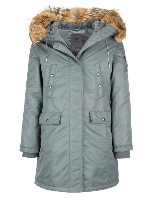 MATTE SATIN PARKA REAL FUR