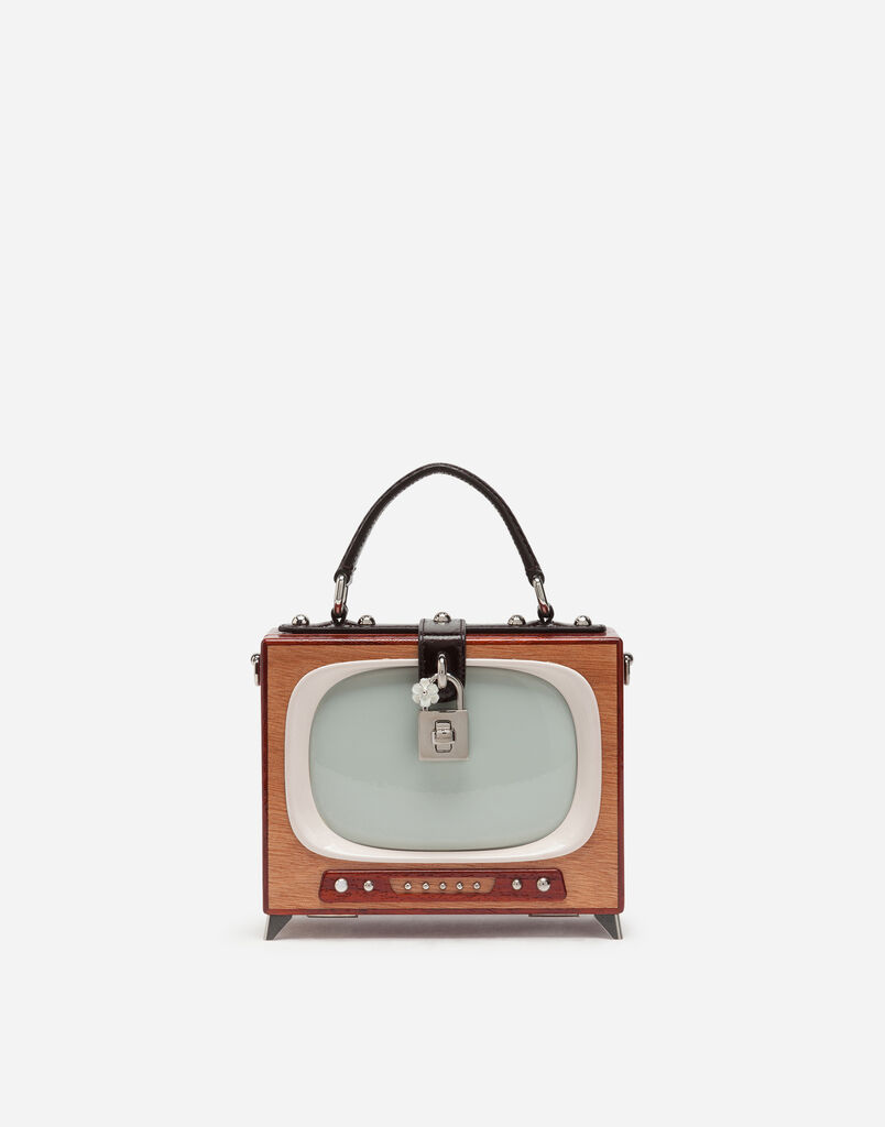HAND-PAINTED WOOD DOLCE BOX TELEVISION BAG