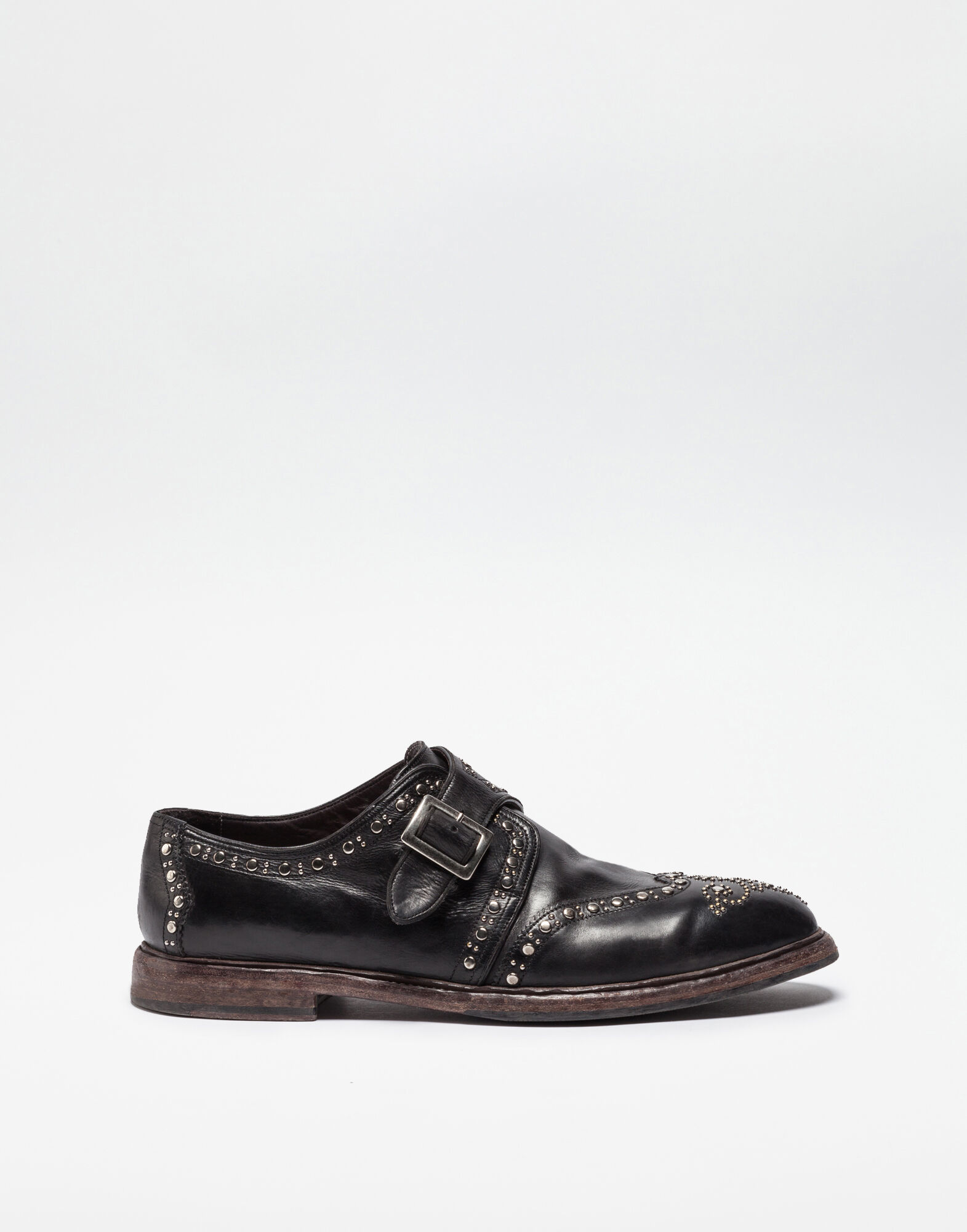 COLORED DIP-COATED LEATHER MONK STRAP SHOE