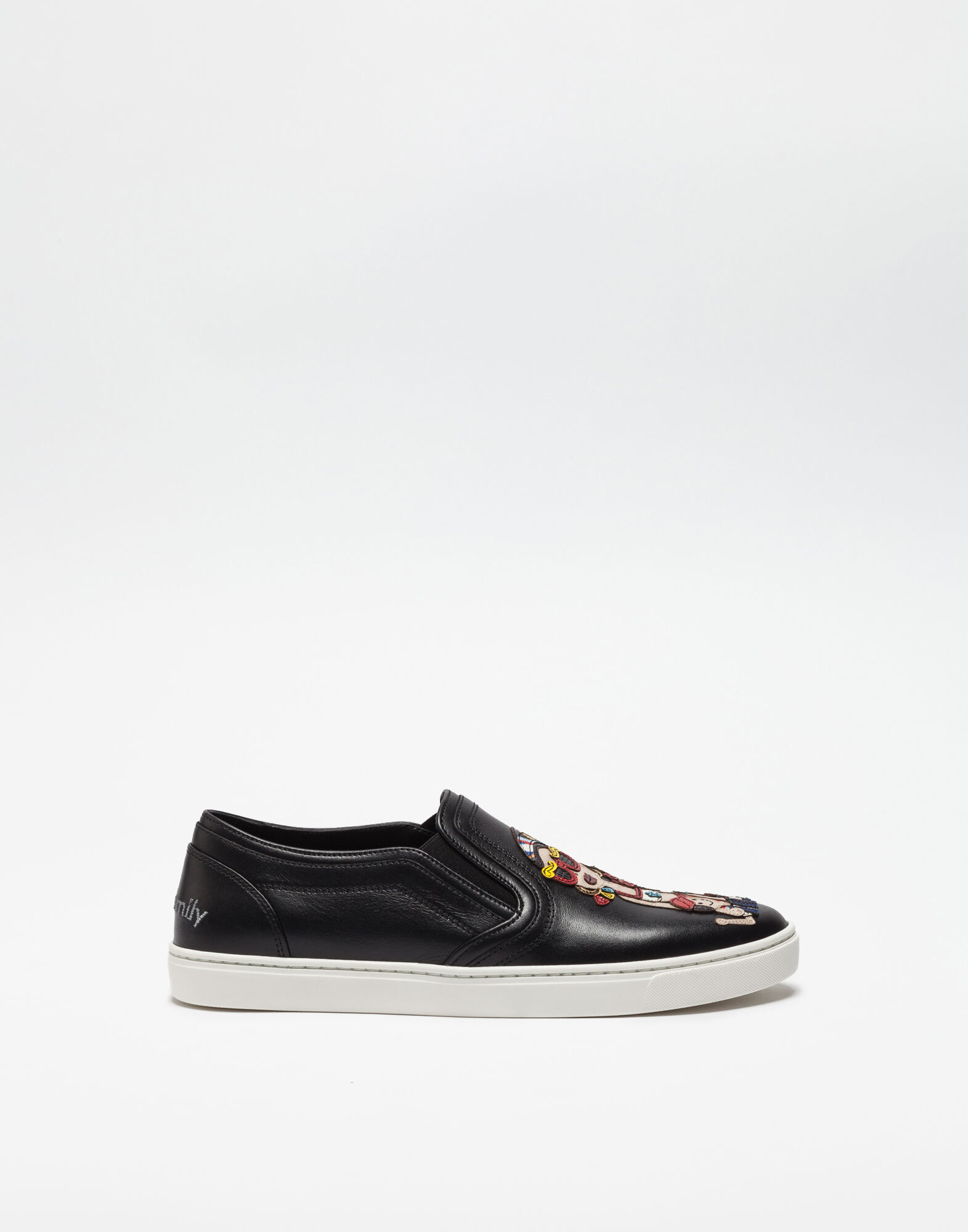 SLIP ON SNEAKERS WITH DG FAMILY PATCH AND APPLICATIONS