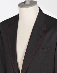 WOOL CLOTH JACKET WITH CONTRAST COLOR STITCHING