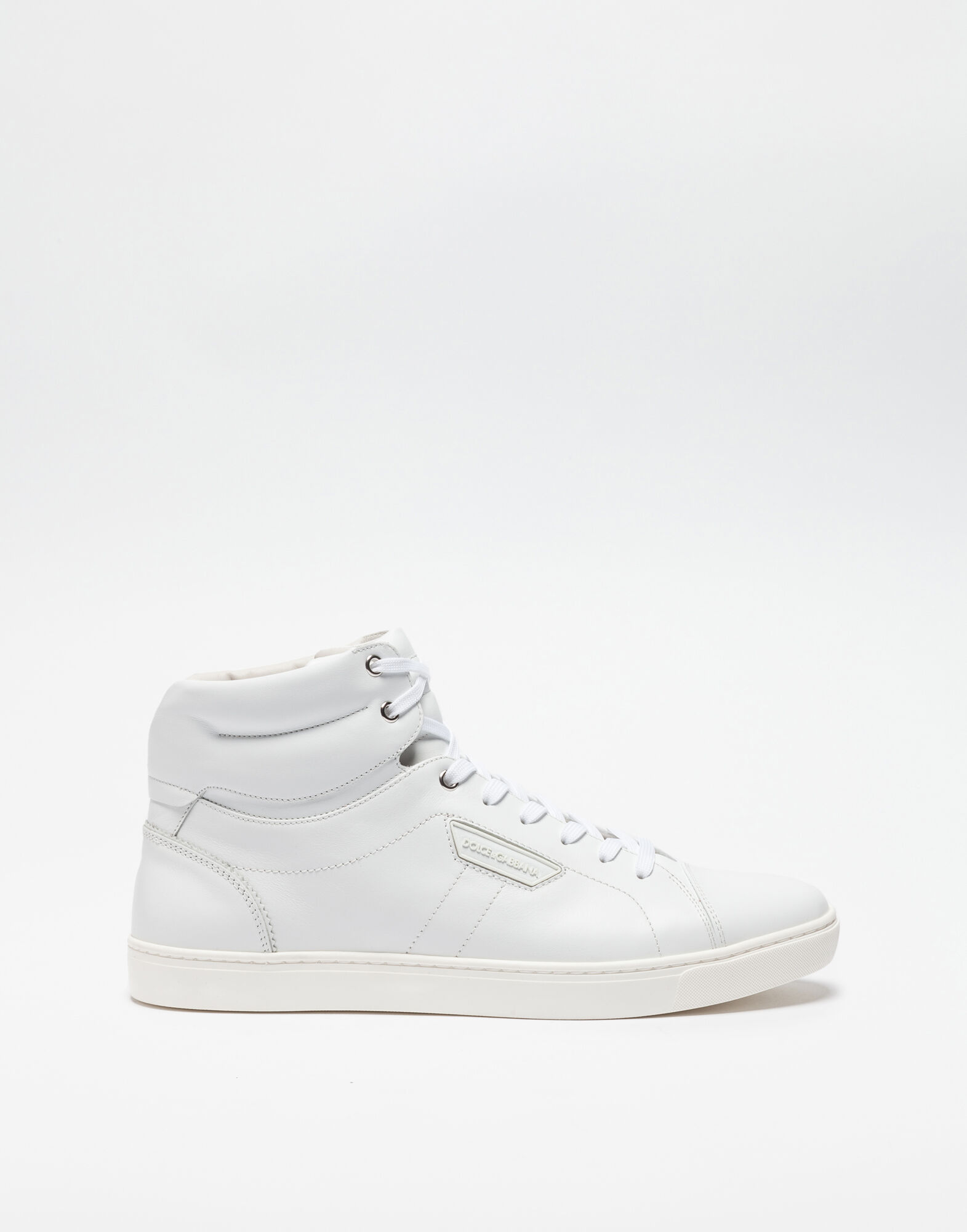 HIGH-TOP SNEAKERS IN WHITE NAPA CALFSKIN