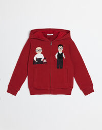 COTTON SWEATSHIRT WITH DGFAMILY PATCH