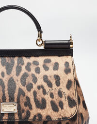 REGULAR SICILY BAG IN LEOPARD TEXTURED LEATHER