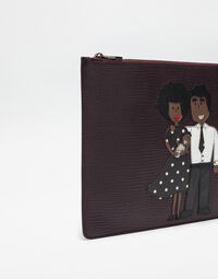 LEATHER DOCUMENT HOLDER WITH DG Family PATCH