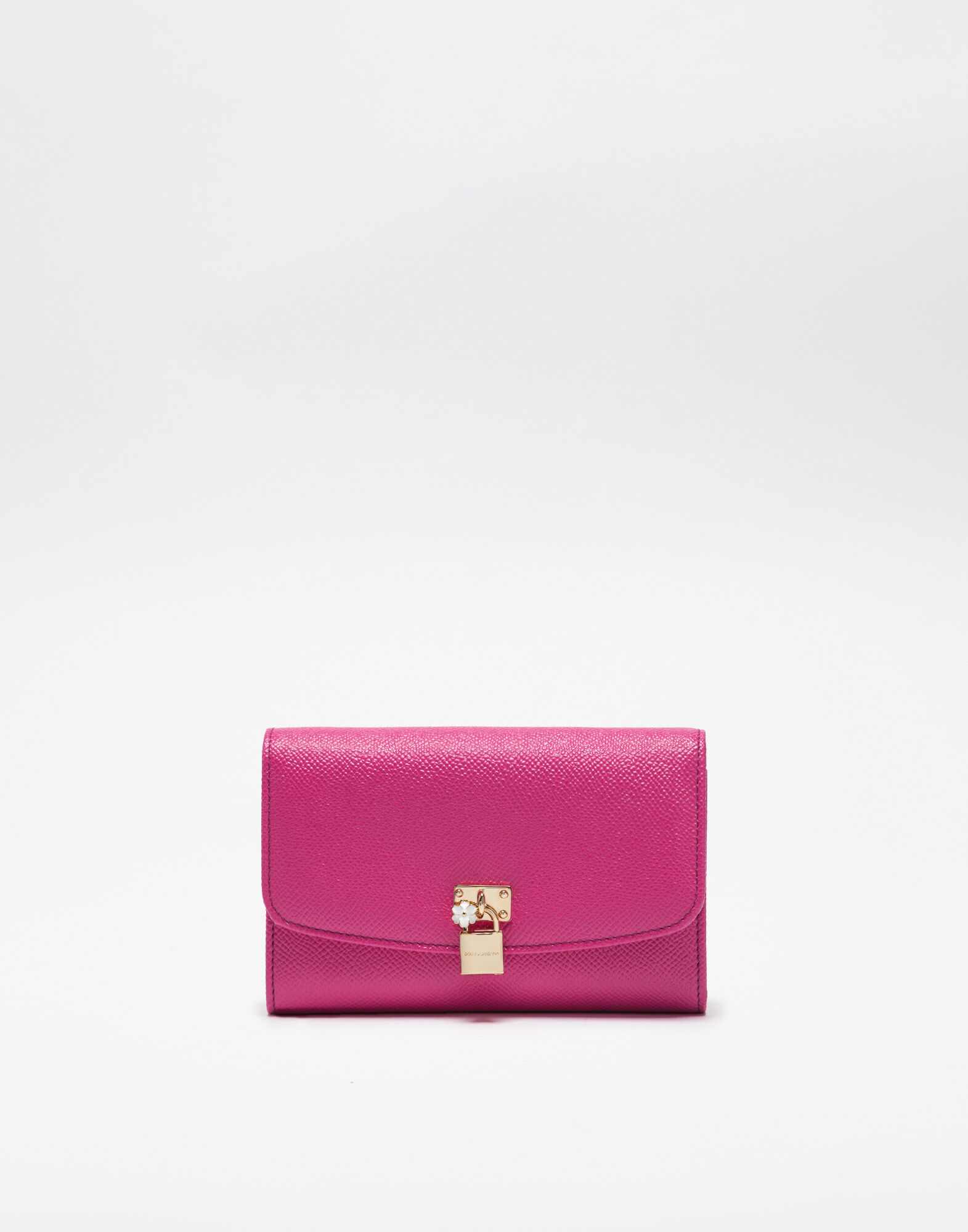 CONTINENTAL WALLET IN DAUPHINE LEATHER WITH PADLOCK