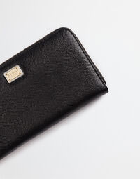 DAUPHINE LEATHER ZIP-AROUND WALLET