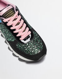 SUEDE SNEAKERS WITH GLITTER
