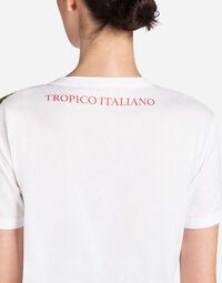 "T-SHIRT WITH PRINT ""IO C'ERO"" IN ITALIAN"