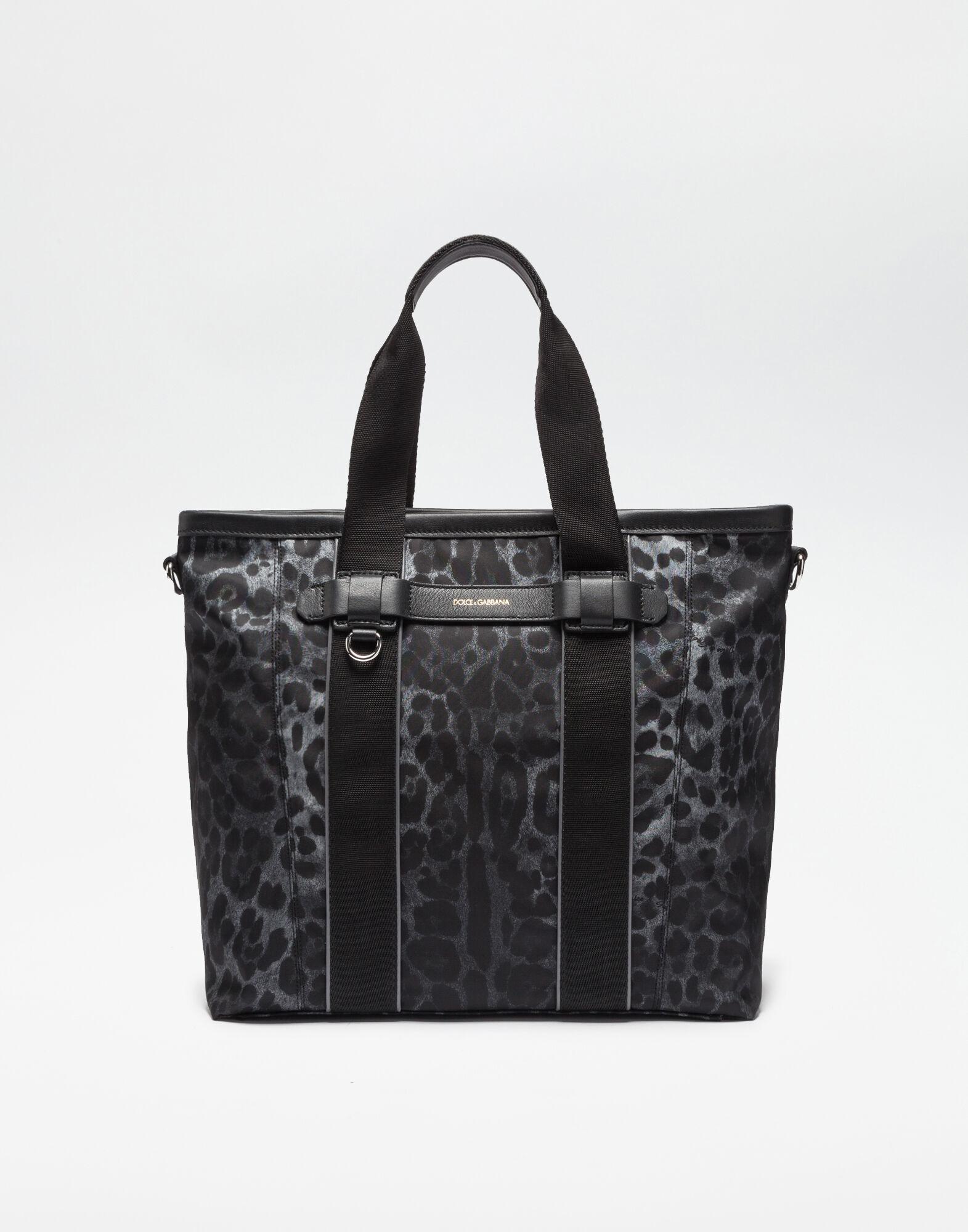 PRINTED NYLON HAND BAG
