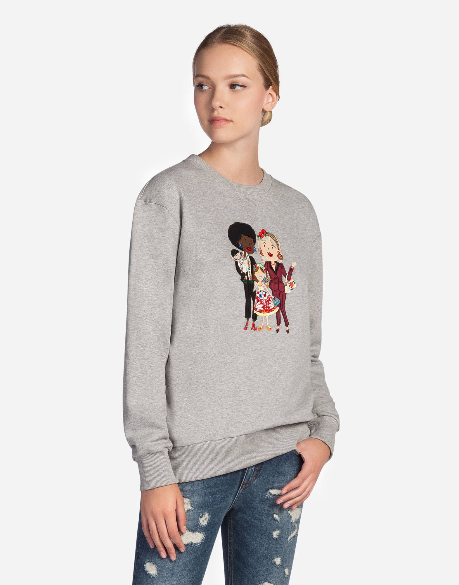 COTTON SWEATSHIRT WITH DG FAMILY PATCH