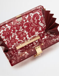 DOLCE BOX CLUTCH IN PLEXIGLASS AND LACE