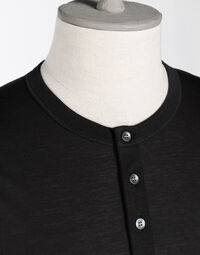HENLEY T-SHIRT WITH EMBROIDERY