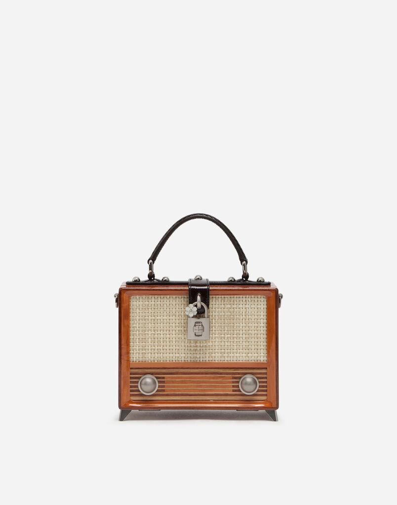 HAND-PAINTED WOOD RADIO DOLCE BOX BAG