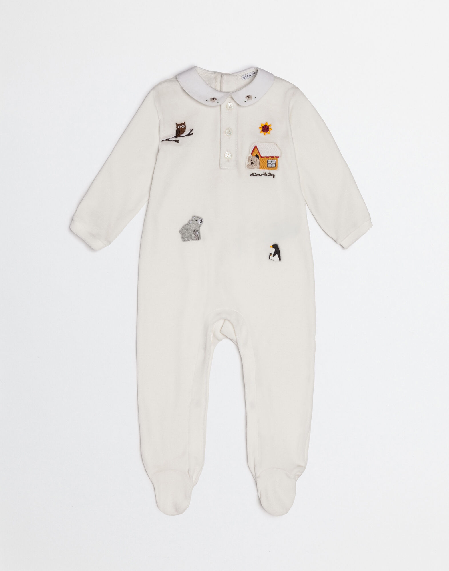 MIMMO THE DOG ONESIE IN CHENILLE