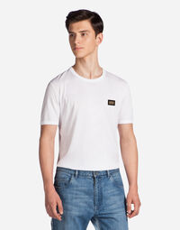 T-SHIRT IN COTTON WITH LOGOED BADGE