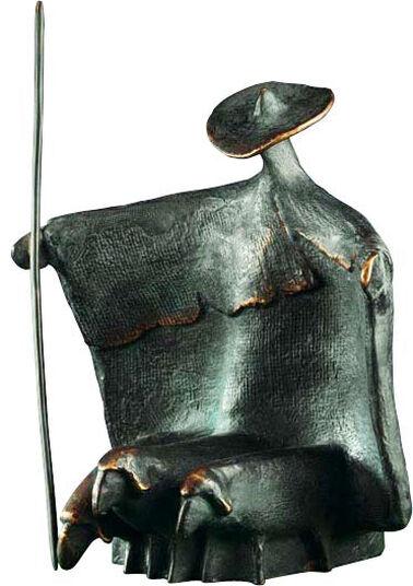 Wolfgang Kreutter: Sculpture 'Standing Shepherd', bronze