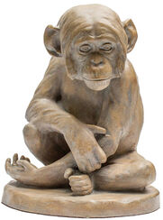 Sculpture 'Chimpanzee' (1896), version in cast stone