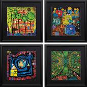 4 Paintings in Set