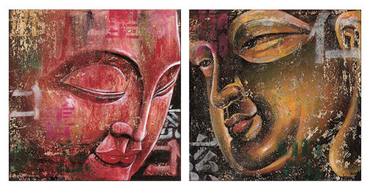 Ma Tse Lin: 2 Buddha-Bilder im Set