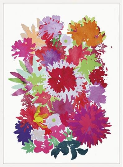 """Ulrike Bultmann: Bild """"Blossom Red"""" (2012) (Unikat)"""