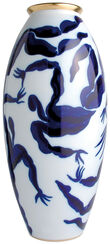 Porcelain Vase with Golden Decor - from The Collection Bacchanale from Bernardaud