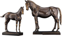 "Horse sculpture pair ""Poesie & Poetin"", version in bronze"