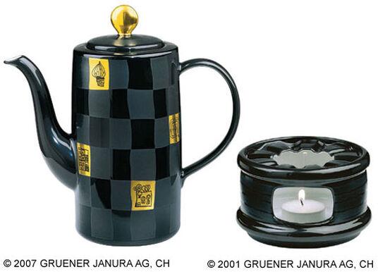Friedensreich Hundertwasser: Kaffeekanne mit Stövchen im Set