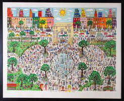 "3D-Bild ""Washington ain't no Square Park"" (1989)"