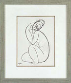 "Picture "" Nude Female II."" in a frame"