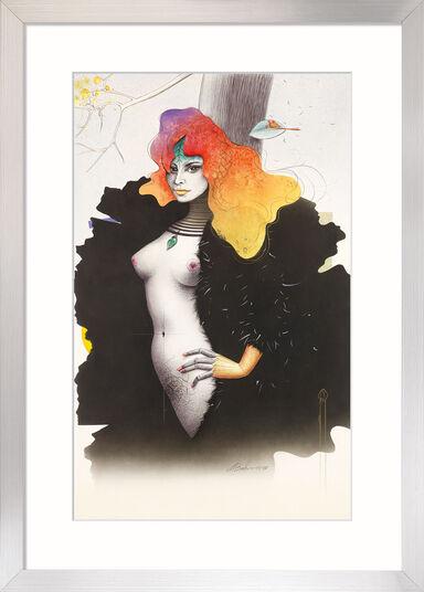 "Michael Becker: Bild ""Femme Fatale"" (1997) (Original / Unikat), gerahmt"