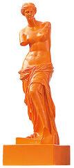 "Skulptur ""Venus von Milo - Orange"" (Reduktion, Höhe 32 cm), Kunstmarmor"